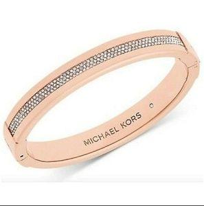 Mk rose gold & rhinestone bracelet!